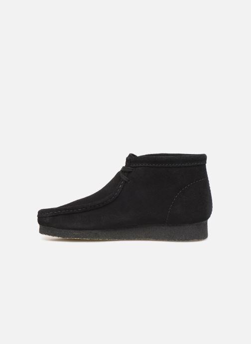 Chaussures à lacets Clarks Originals Wallabee boot Noir vue face