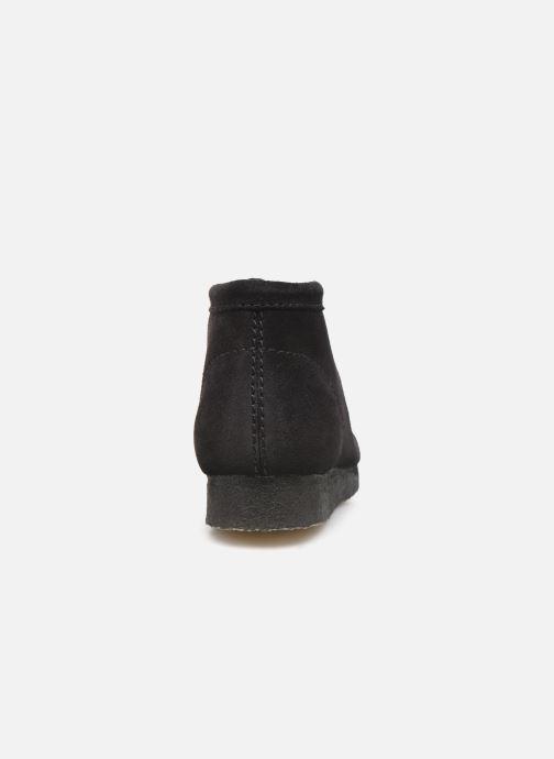 Chaussures à lacets Clarks Originals Wallabee boot Noir vue droite