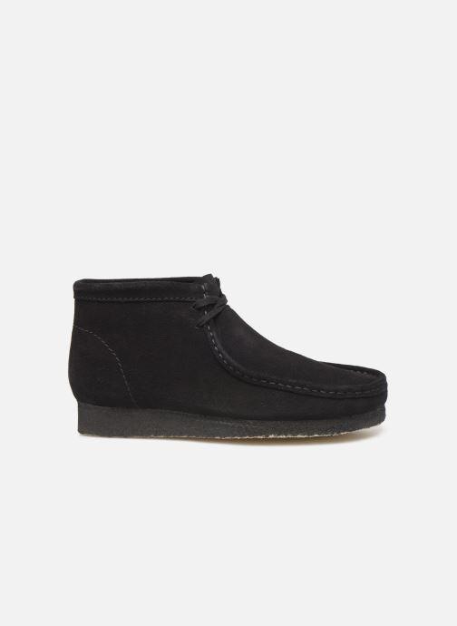 Scarpe con lacci Clarks Originals Wallabee boot Nero immagine posteriore