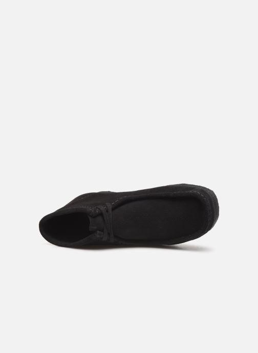 Chaussures à lacets Clarks Originals Wallabee boot Noir vue gauche