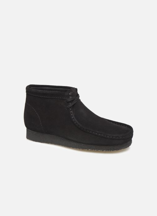 Chaussures à lacets Clarks Originals Wallabee boot Noir vue détail/paire