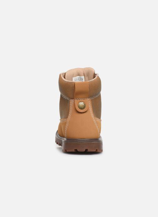 Zapatos con cordones Skechers Mecca Marrón vista lateral derecha