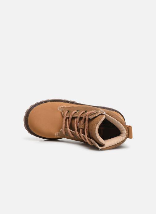 Zapatos con cordones Skechers Mecca Marrón vista lateral izquierda