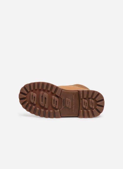 Chaussures à lacets Skechers Mecca Marron vue haut