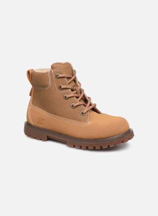 Chaussures à lacets Skechers Mecca Marron vue détail/paire