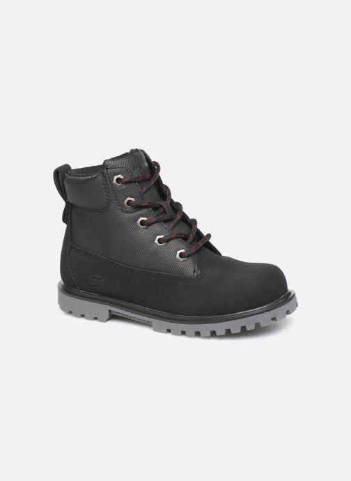Chaussures à lacets Skechers Mecca Noir vue détail/paire