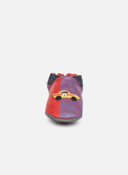 Pantofole Robeez Race Car Rosso modello indossato
