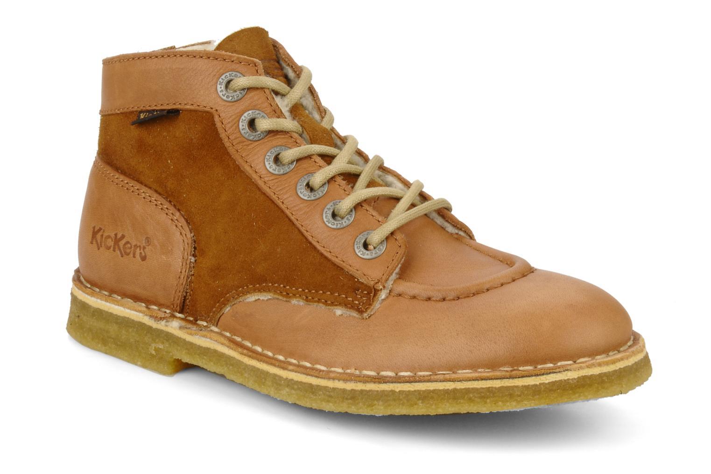 Bottines et boots Kickers Kick legend H Marron vue détail/paire