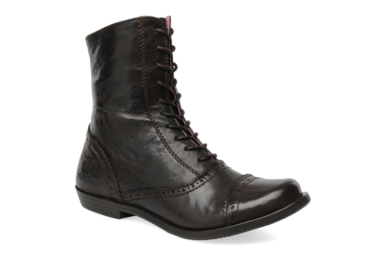 Bottines et boots Kickers Edwin Marron vue détail/paire