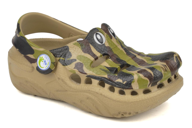 Sandales et nu-pieds Polliwalks Igor L'alligator Vert vue détail/paire