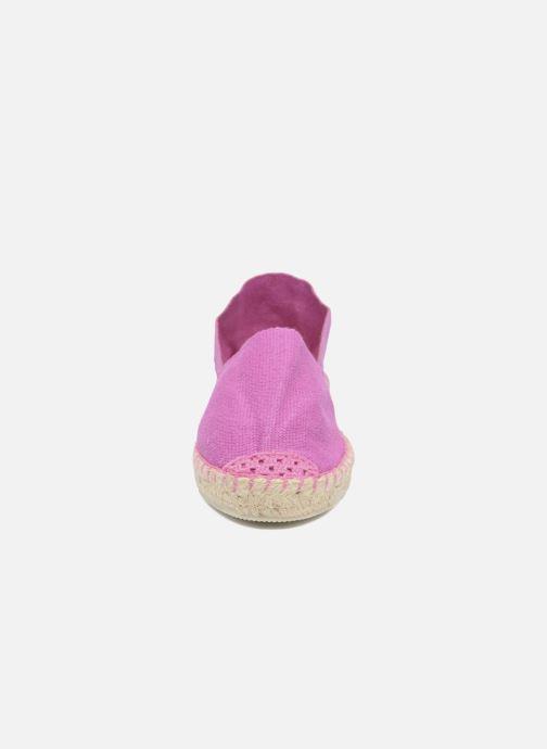 Espadrilles La maison de l'espadrille Sabline E Violet vue portées chaussures