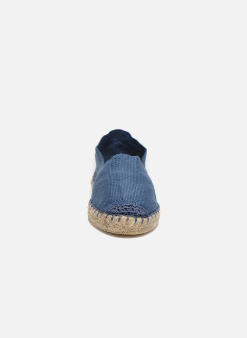 Espadrilles La maison de l'espadrille Sabline E Bleu vue portées chaussures