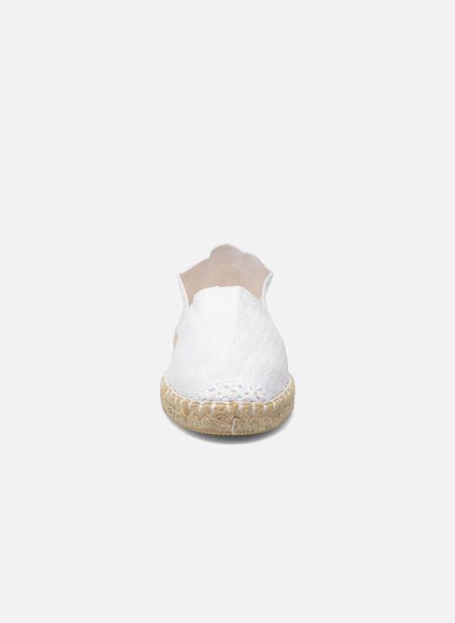 Espadrilles La maison de l'espadrille Sabline E Blanc vue portées chaussures