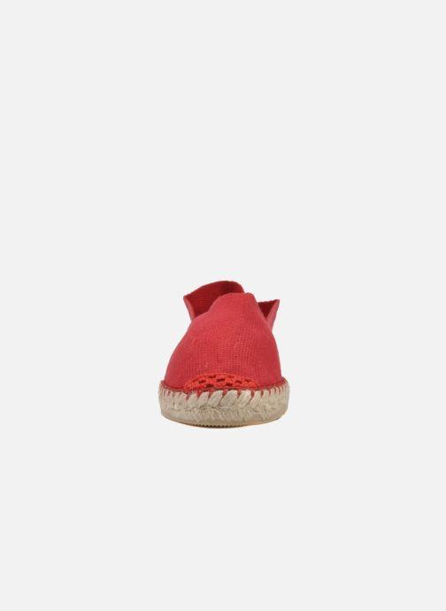 Scarpe di corda La maison de l'espadrille Sabline E Rosso modello indossato