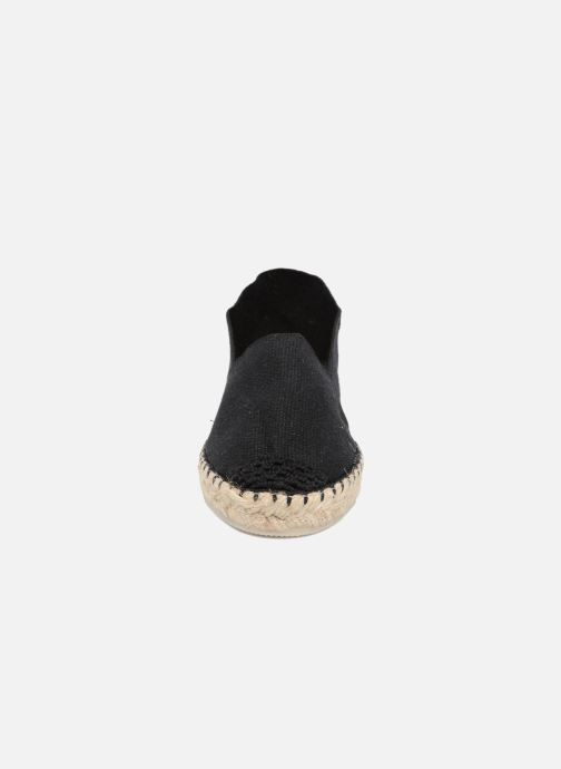Espadrilles La maison de l'espadrille Sabline E Noir vue portées chaussures