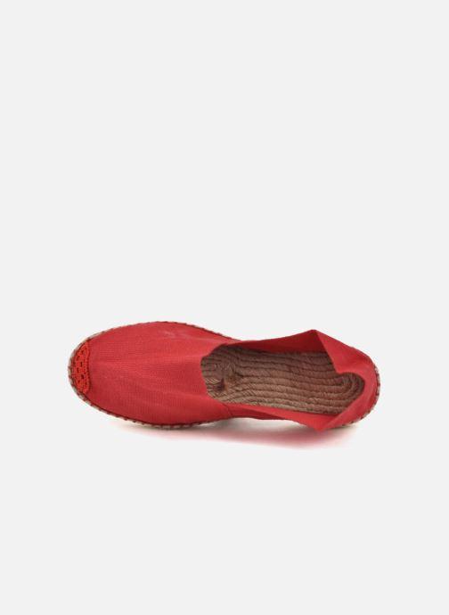 Alpargatas La maison de l'espadrille Sabline F Rojo vista lateral izquierda