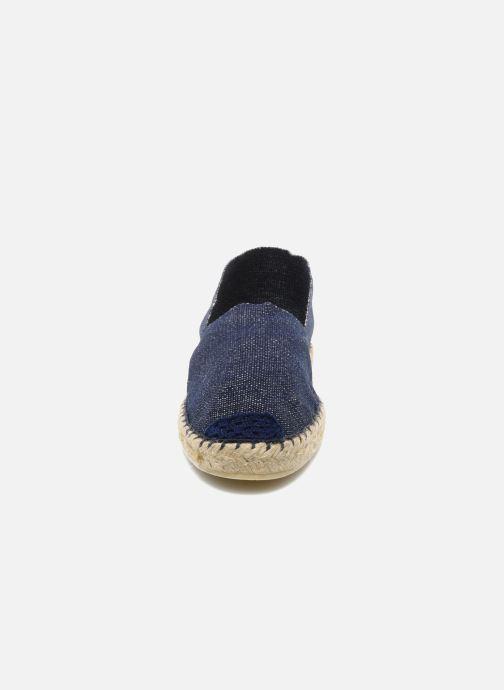 Espadrilles La maison de l'espadrille Sabline F Bleu vue portées chaussures