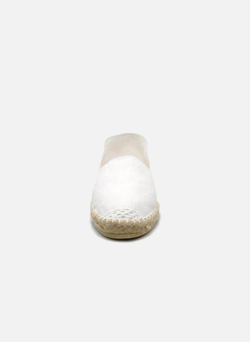 Espadrilles La maison de l'espadrille Sabline F Blanc vue portées chaussures