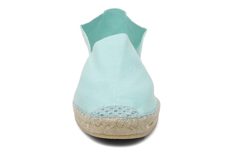 Espadrilles La maison de l'espadrille Sabline F Vert vue portées chaussures