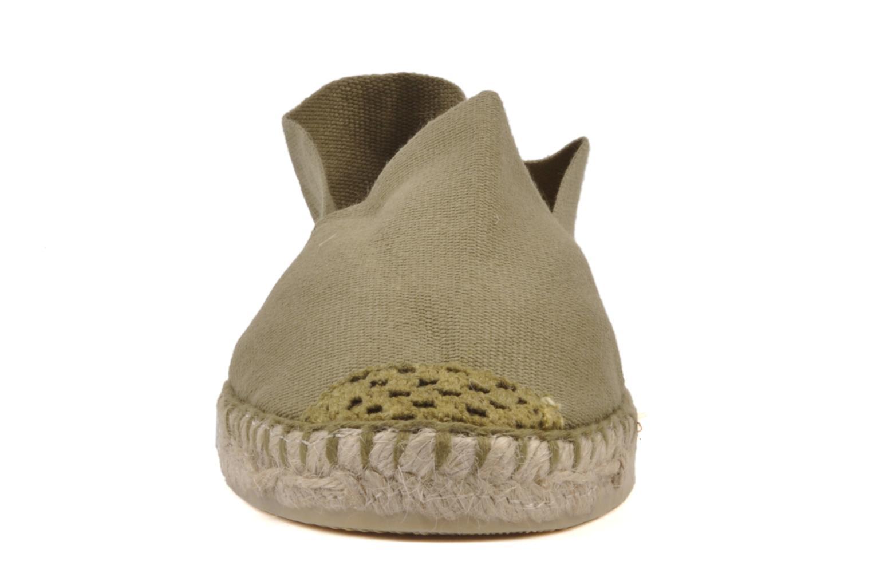 Espadrilles La maison de l'espadrille Sabline H Vert vue portées chaussures