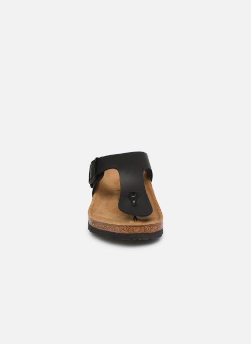 Zehensandalen Birkenstock Ramses M schwarz schuhe getragen