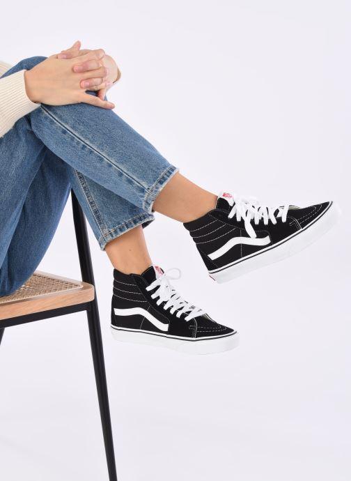 Sneaker Vans SK8 Hi W schwarz ansicht von unten / tasche getragen