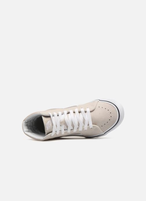 Trainers Vans SK8 Hi W Grey view from the left