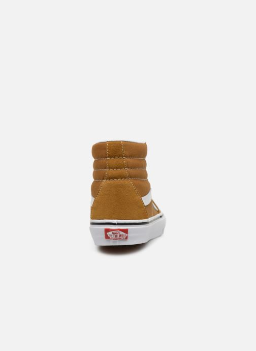 Trainers Vans SK8 Hi W Brown view from the right