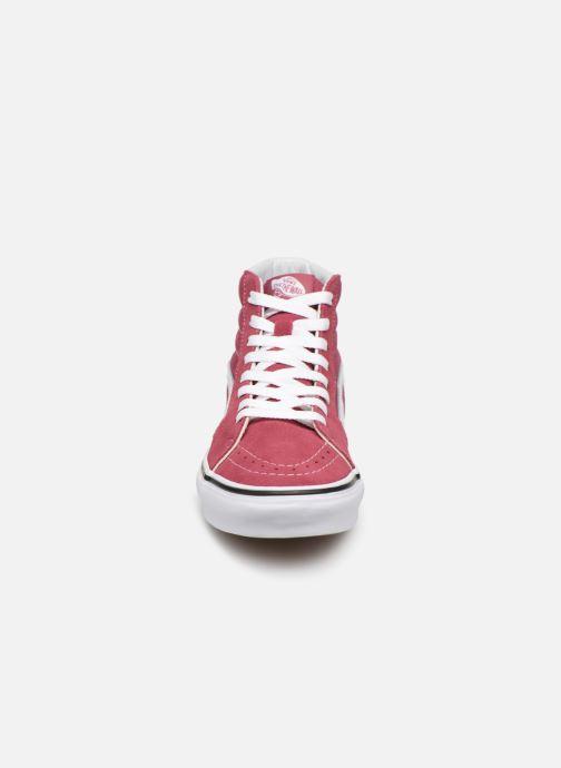 Baskets Vans SK8 Hi W Bordeaux vue portées chaussures