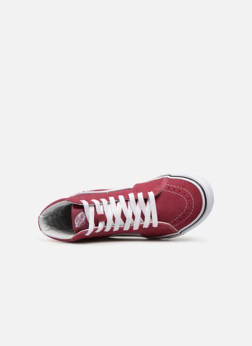 Sneaker Vans SK8 Hi W weinrot ansicht von links