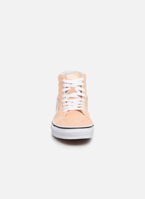 Baskets Vans SK8 Hi W Beige vue portées chaussures