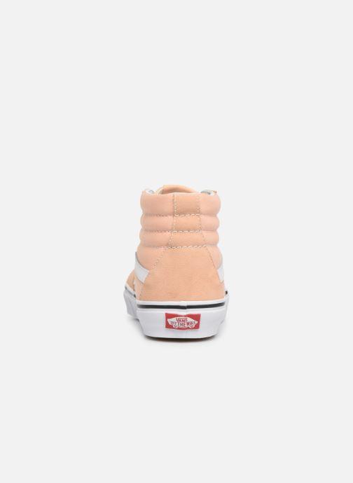 Sneakers Vans SK8 Hi W Beige rechts