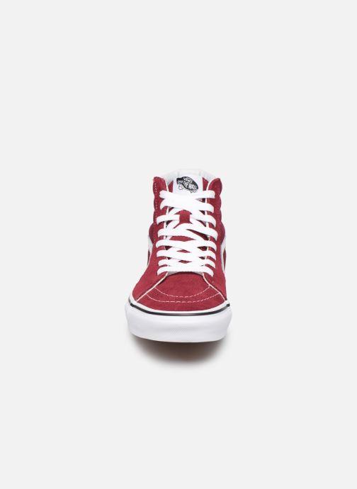 Sneaker Vans SK8 Hi W weinrot schuhe getragen
