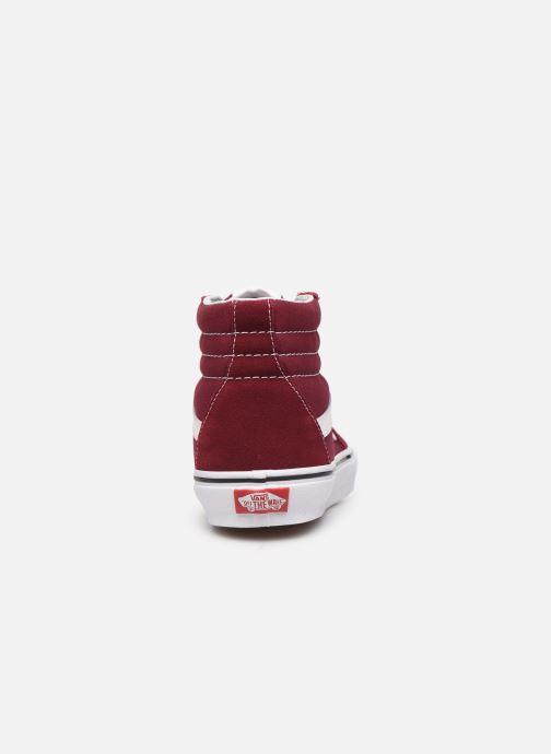 Sneakers Vans SK8 Hi W Vinröd Bild från höger sidan
