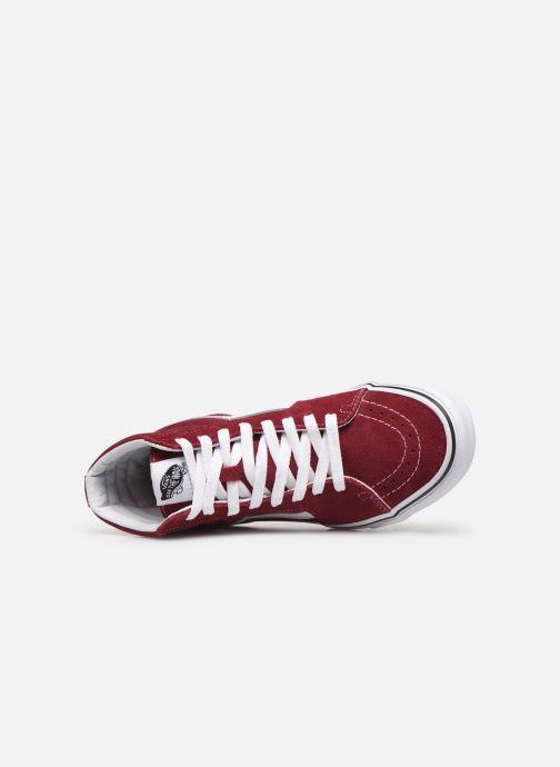 Sneakers Vans SK8 Hi W Vinröd bild från vänster sidan