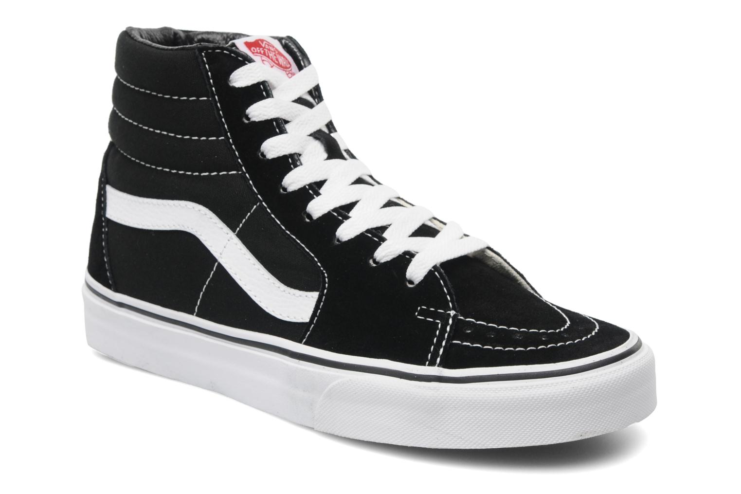 Trainers Vans SK8 Hi W Black detailed view/ Pair view