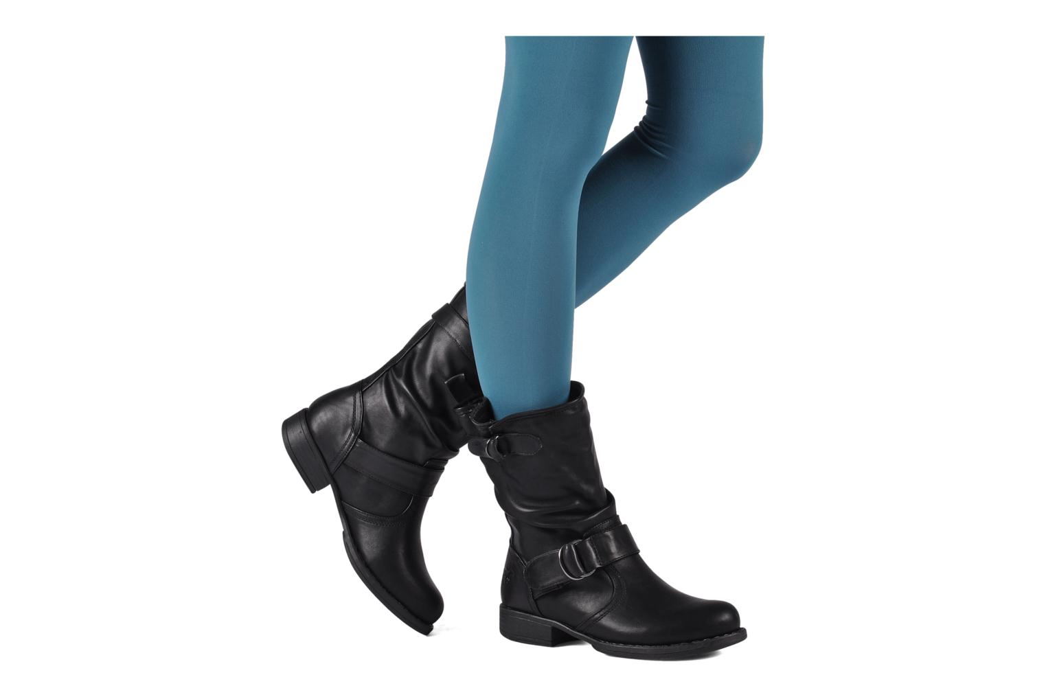 Ankle boots Mustang shoes Brea Black view from underneath / model view