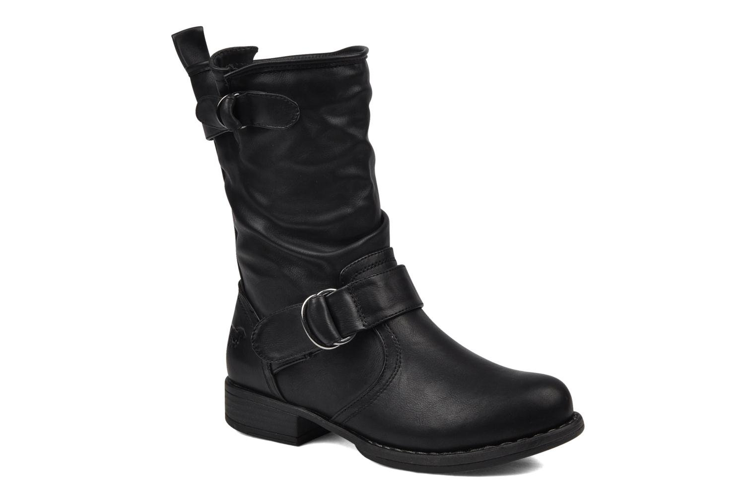 Ankle boots Mustang shoes Brea Black detailed view/ Pair view