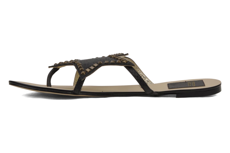 Sandales et nu-pieds Chocolate Schubar Star Noir vue portées chaussures