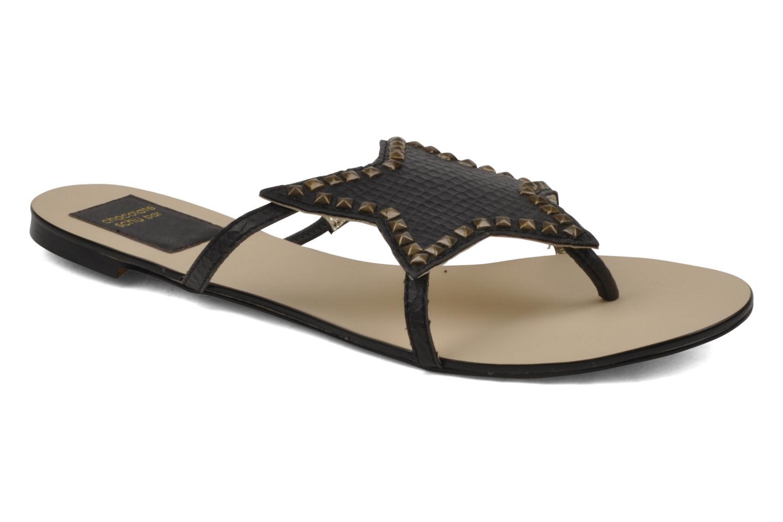 Sandales et nu-pieds Chocolate Schubar Star Noir vue détail/paire