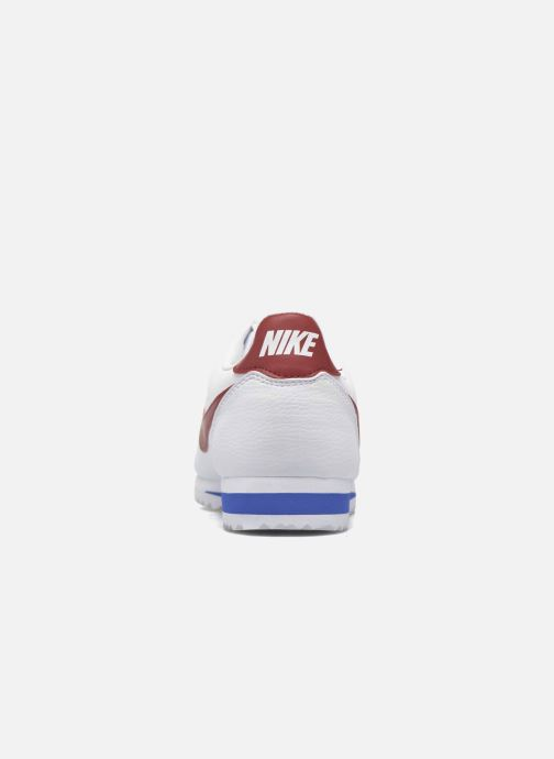 Deportivas Nike Classic Cortez Leather Blanco vista lateral derecha