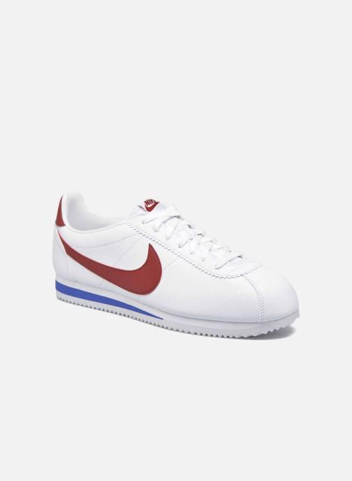 competitive price 23b6e f86f5 Baskets Nike Classic Cortez Leather Blanc vue détail paire