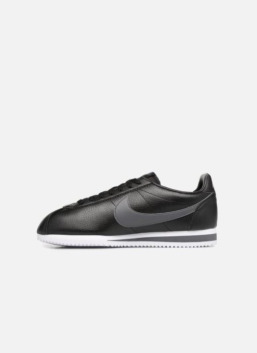 Sneaker Nike Classic Cortez Leather schwarz ansicht von vorne