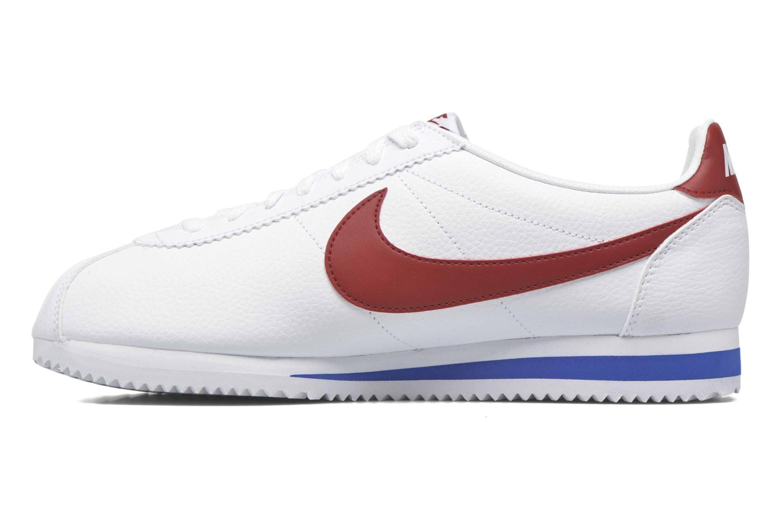 Baskets Nike Classic Cortez Leather Blanc vue face