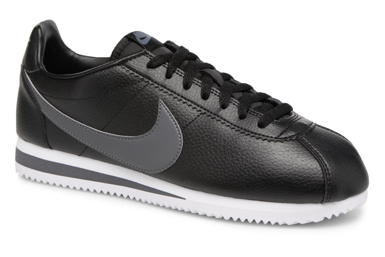 Nike Classic Cortez Leather (Noir) - Baskets en Más cómodo Dédouanement saisonnier