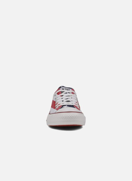Baskets Converse Chuck Taylor All Star Stars & Bars ox w Blanc vue portées chaussures