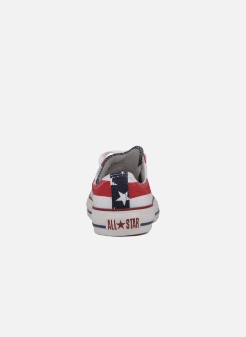 Baskets Converse Chuck Taylor All Star Stars & Bars ox w Blanc vue droite