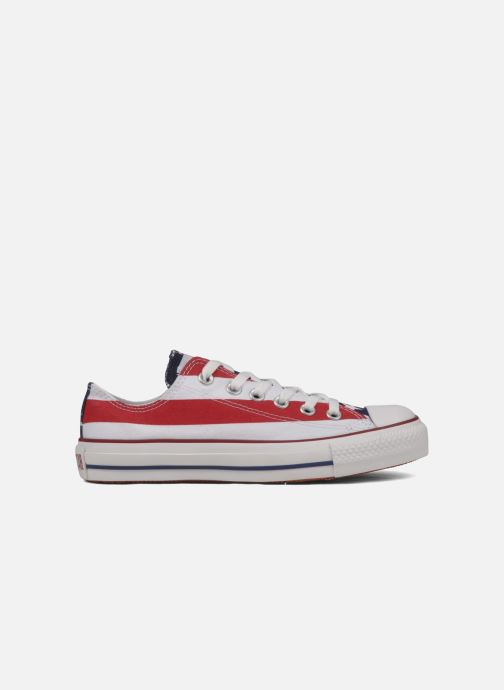 Baskets Converse Chuck Taylor All Star Stars & Bars ox w Blanc vue derrière