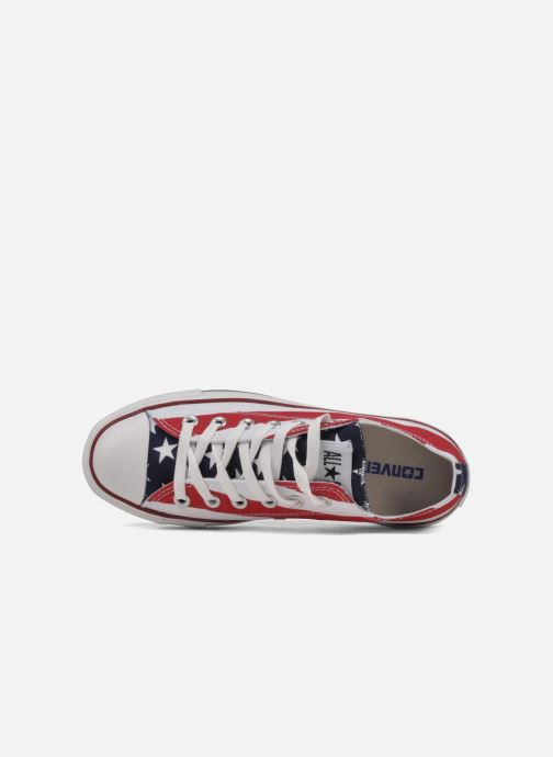 Baskets Converse Chuck Taylor All Star Stars & Bars ox w Blanc vue gauche