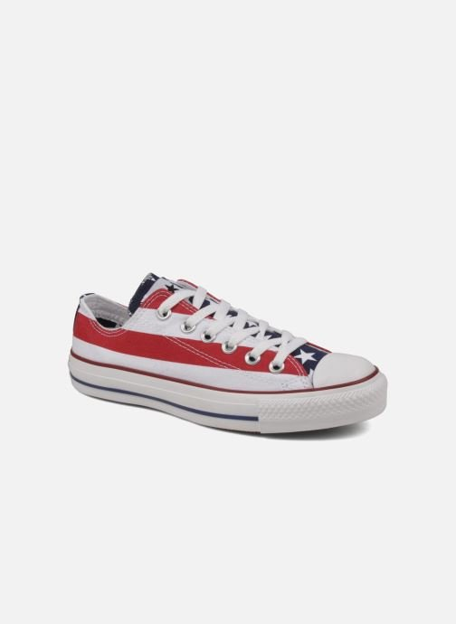 Baskets Converse Chuck Taylor All Star Stars & Bars ox w Blanc vue détail/paire
